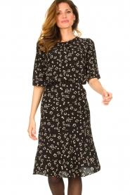 Set |  Printed midi skirt Ryllis | black  | Picture 2