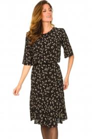 Set |  Printed midi skirt Ryllis | black  | Picture 4