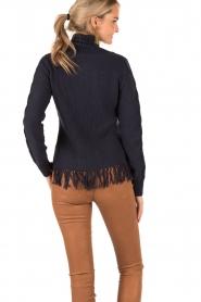 Patrizia Pepe | Gebreid vest Ibis | blauw  | Afbeelding 5