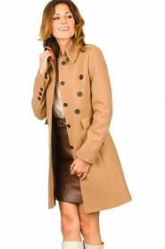 Set |  Woolen coat Ilex | camel  | Picture 4