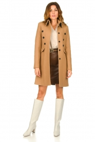 Set |  Woolen coat Ilex | camel  | Picture 3