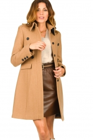 Set |  Woolen coat Ilex | camel  | Picture 2