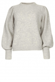 Notes Du Nord |  Knitted sweater with puff sleeves Avery | grey  | Picture 1