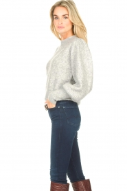 Notes Du Nord |  Knitted sweater with puff sleeves Avery | grey  | Picture 5