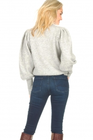 Notes Du Nord |  Knitted sweater with puff sleeves Avery | grey  | Picture 6