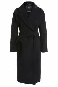 Set |  Luxury wrap coat Elegance | black  | Picture 1