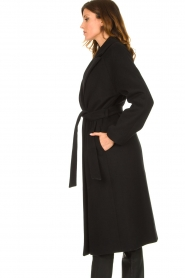 Set |  Luxury wrap coat Elegance | black  | Picture 5