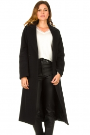 Set |  Luxury wrap coat Elegance | black  | Picture 4