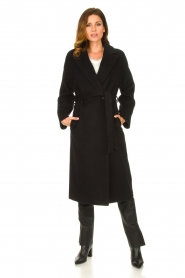 Set |  Luxury wrap coat Elegance | black  | Picture 3