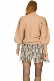 Notes Du Nord |  Knitted sweater with puff sleeves Avery | beige  | Picture 7