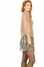 Notes Du Nord |  Knitted sweater with puff sleeves Avery | beige  | Picture 6