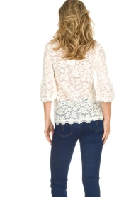 Rosemunde |  Lace top with trumpet sleeves Catherine | natural  | Picture 4