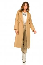 Set |  Luxury wrap coat Elegance | camel  | Picture 3