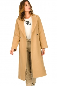 Set |  Luxury wrap coat Elegance | camel  | Picture 4