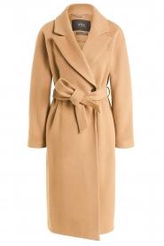 Set |  Luxury wrap coat Elegance | camel  | Picture 1