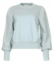 Notes Du Nord |  Sweater with puff sleeves Oxfort | blue  | Picture 1