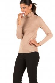 Patrizia Pepe | Metallic top met col Vienna | roze  | Afbeelding 4