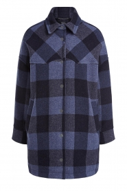 Set |  Checkered blouse jacket Trilly | blue  | Picture 1