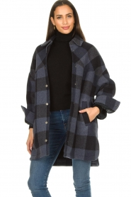Set |  Checkered blouse jacket Trilly | blue  | Picture 4