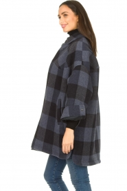 Set |  Checkered blouse jacket Trilly | blue  | Picture 5