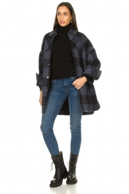 Set |  Checkered blouse jacket Trilly | blue  | Picture 3