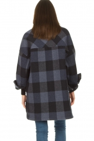 Set |  Checkered blouse jacket Trilly | blue  | Picture 6