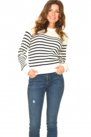 Notes Du Nord |  Knitted sweater Amina | blue  | Picture 2