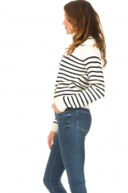 Notes Du Nord |  Knitted sweater Amina | blue  | Picture 6