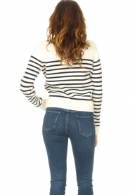 Notes Du Nord |  Knitted sweater Amina | blue  | Picture 7