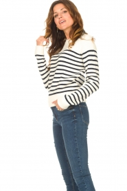 Notes Du Nord |  Knitted sweater Amina | blue  | Picture 5