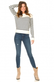 Notes Du Nord |  Knitted sweater Amina | blue  | Picture 3
