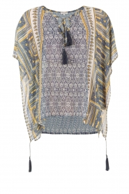 OndadeMar |  Semi-sheer kaftan Zinnia | blue/yellow  | Picture 1