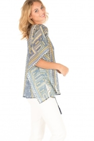 OndadeMar |  Semi-sheer kaftan Zinnia | blue/yellow  | Picture 4
