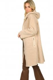 Set    Faux lammy coat Rail   beige    Picture 6