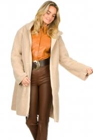 Set    Faux lammy coat Rail   beige    Picture 2