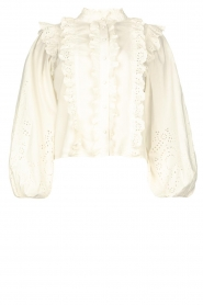 Notes Du Nord |  Cotton broderie blouse Alma | white  | Picture 1
