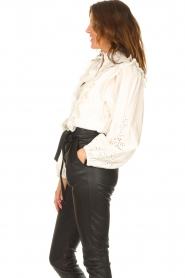 Notes Du Nord    Cotton broderie blouse Alma   white    Picture 6