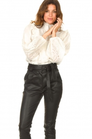 Notes Du Nord    Cotton broderie blouse Alma   white    Picture 2