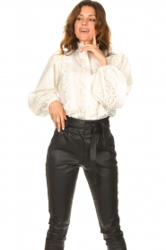 Notes Du Nord    Cotton broderie blouse Alma   white    Picture 5