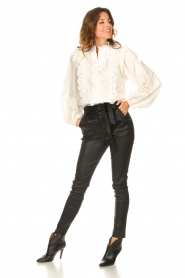 Notes Du Nord    Cotton broderie blouse Alma   white    Picture 3