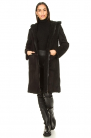 Set |  Faux lammy coat Rail | black  | Picture 3