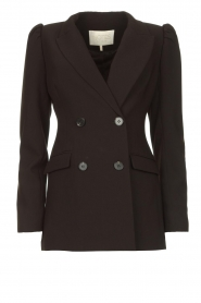 Notes Du Nord |  Blazer with puff sleeves Anabelle | black  | Picture 1