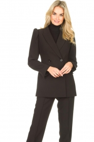 Notes Du Nord    Blazer with puff sleeves Anabelle   black    Picture 2