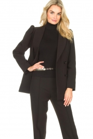 Notes Du Nord    Blazer with puff sleeves Anabelle   black    Picture 6