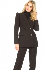Notes Du Nord    Blazer with puff sleeves Anabelle   black    Picture 5