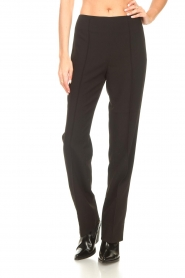 Notes Du Nord |  Slightly flared trousers Anabelle | black  | Picture 4