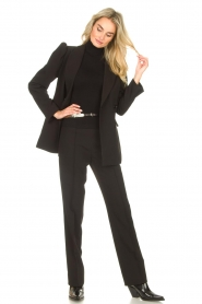 Notes Du Nord |  Slightly flared trousers Anabelle | black  | Picture 2