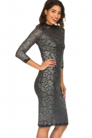 Rosemunde |  Lace dress with metallic details Julie | black  | Picture 5