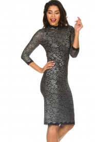 Rosemunde |  Lace dress with metallic details Julie | black  | Picture 4
