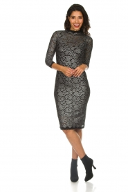 Rosemunde |  Lace dress with metallic details Julie | black  | Picture 3